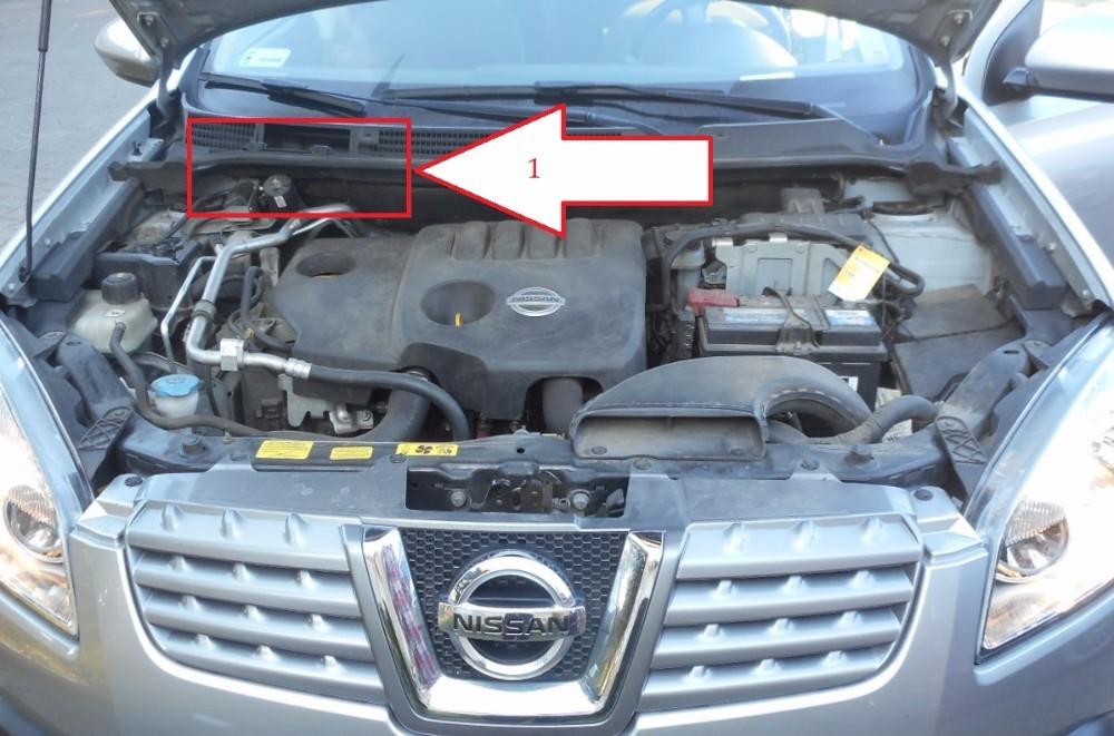Nissan qashqai 2006 2013 gdzie jest vin for Mercedes benz vin number location